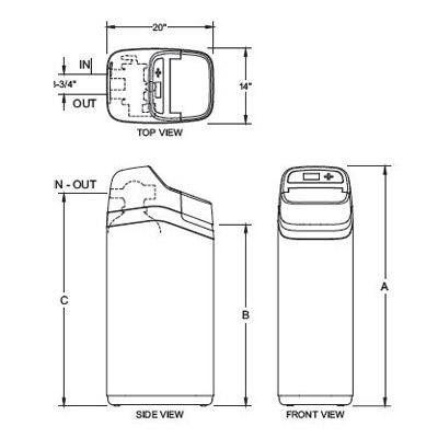 ECR3700 Series dimensions