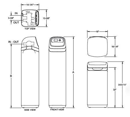 ECR3702 Series dimensions