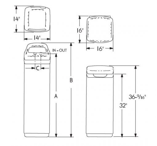 Water Softening ESD2702 dimensions