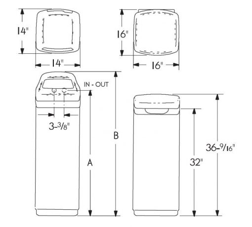 Water Softening ESD2700 dimensions